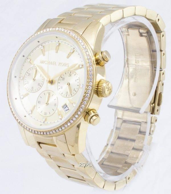 Michael Kors Ritz Chronograph kvartsi Diamond aksentti MK6356 naisten kello