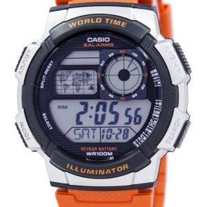 Casio nuorten sarja valaisin maailmassa aika hälytys AE 1000W 4BV Miesten kello