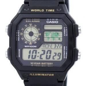 Casio nuorten sarja digitaalisessa maailmassa aika AE 1200WH 1BVDF AE 1200WH 1BV Miesten kello