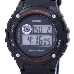Casio urheilu valaisin herätyskello Chrono Digital W-216H-1AV Miesten kello