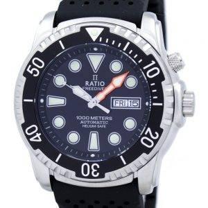 Suhde II ilmaiseksi Diver Helium-Safe 1000M automaattinen 1068HA90-34VA-00 Miesten Kello