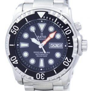 Suhde II ilmaiseksi Diver Helium-Safe 1000M automaattinen 1068HA96-34VA-00 Miesten Kello