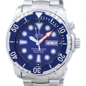 Suhde II ilmaiseksi Diver Helium-Safe 1000M automaattinen 1068HA96-34VA-01 Miesten Kello
