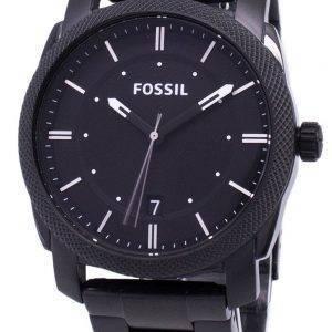 Fossiilisten päällä musta IP ruostumatonta terästä FS4775 Miesten kello