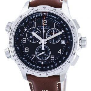 Hamilton Khaki Aviation X-tuuli Chronograph kvartsi GMT sveitsiläistä H77912535 Miesten kello