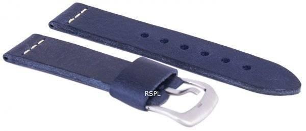 Sininen suhde tuotemerkin nahkahihna 22mm