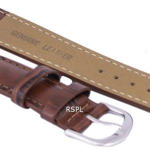 Ruskea suhde tuotemerkin nahkahihna 22mm