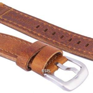Ruskea suhde tuotemerkin nahkahihna 20mm