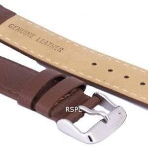 Tumma ruskea suhde tuotemerkin nahkahihna 20mm