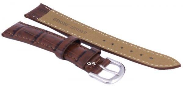Tumma ruskea suhde tuotemerkin nahkahihna 18mm