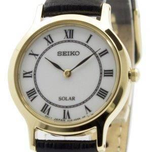 Seiko Solar valkoinen soittaa nahka hihna SUP304P1 SUP304P naisten kello