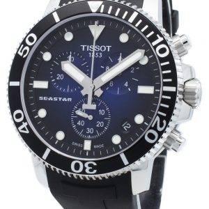 Tissot Seastar 1000 T120.417.17.041.00 T1204171704100 Chronograph 4 jalokiviä Quartz 300M miesten kello