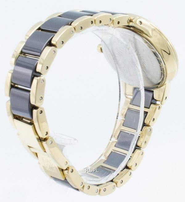 Anne Klein 3344BKGB Diamond Accent Quartz Naistenkello