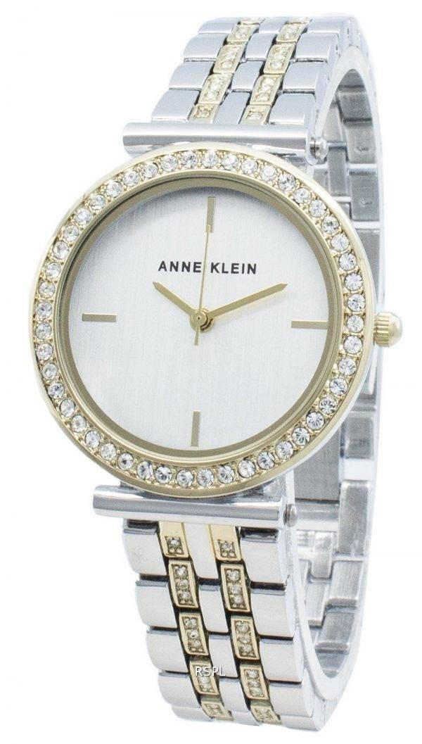 Anne Klein AK-3409SVTT timanttikoristeet kvartsi naistenkello