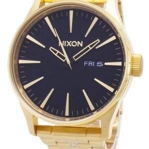 Nixon Sentry SS kultaääni mustalla kellolla A356-510-00 miesten kello