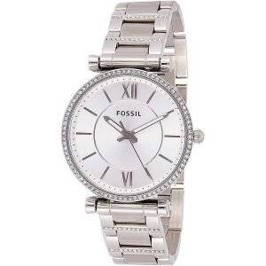 Fossil Carlie ES4341 Diamond Accents Quartz Naistenkello