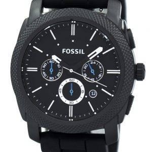Fossil Machine Chronograph musta silikonihihna FS4487 miesten kello