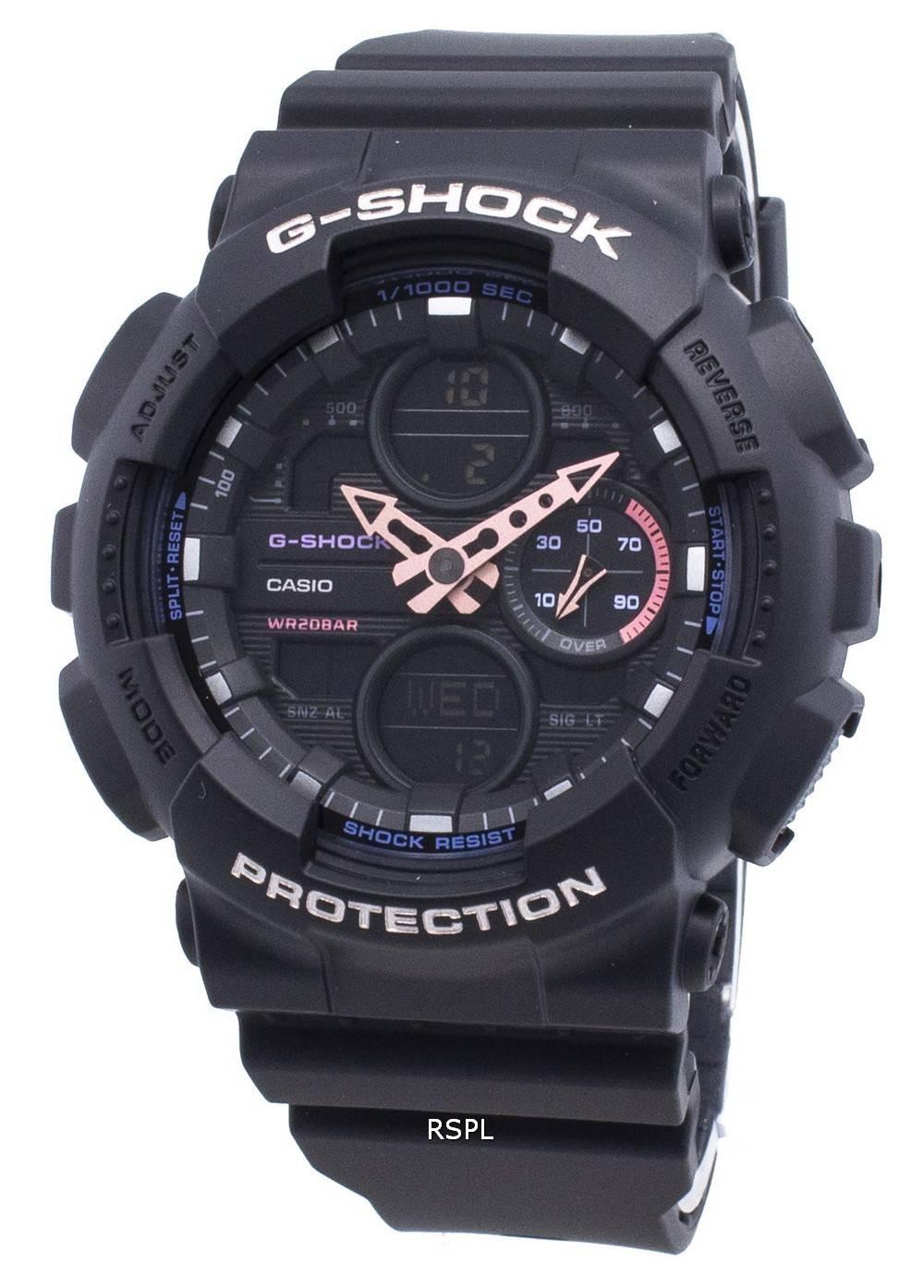 Casio G-Shock GMA-S140-1A GMAS140-1A maailmanaikainen kvartsi 200M naisten kello