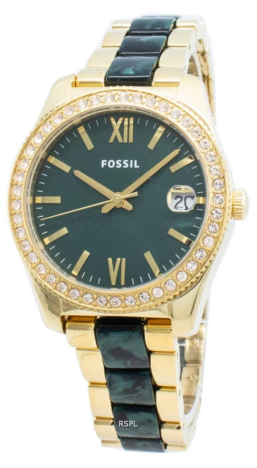 Fossil Scarlette Mini ES4676 timanttikoristeet kvartsi naistenkello