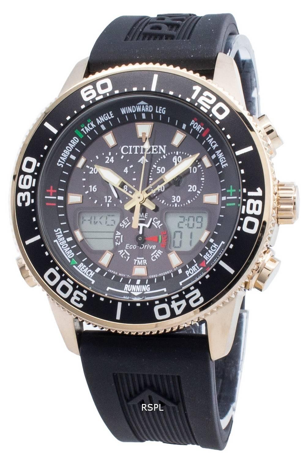Citizen PROMASTER Marine Eco-Drive JR4063-12E Chronograph 200M miesten kello