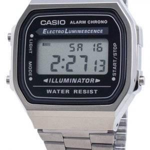 Casio A168WGG-1A sähköluminesenssinen unisexkello