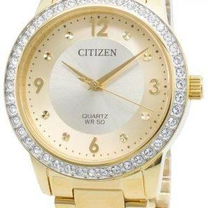 Citizen EL3092-86P timanttikoristeet kvartsi naistenkello