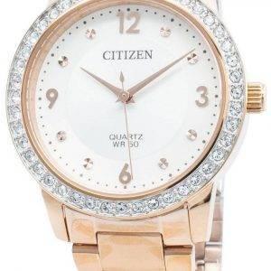 Citizen EL3093-83A timanttikoristeet kvartsi naistenkello