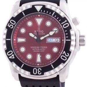 Suhdevapaa Diver Helium-Safe 1000M Sapphire Automaattinen 1068HA90-34VA-RED miesten kello