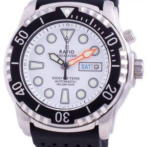 Suhdevapaa Diver Helium-Safe 1000M Sapphire Automatic 1068HA90-34VA-WHT miesten kello