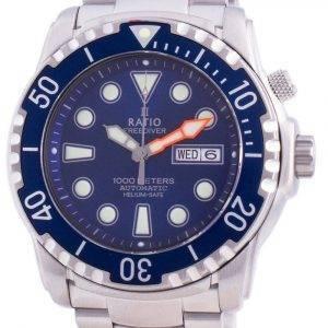 Suhdevapaa Diver Helium-Safe 1000M Sapphire Automaattinen 1068HA96-34VA-BLU miesten kello