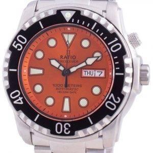 Suhdevapaa Diver Helium-Safe 1000M Sapphire Automatic 1068HA96-34VA-ORG miesten kello