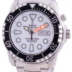 Suhdevapaa Diver Helium-Safe 1000M Sapphire Automatic 1068HA96-34VA-WHT miesten kello