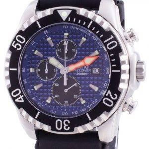 Suhde 200 m sukeltajakvartsi kronografia Sapphire 48HA90-17 + CHR-BLU miesten kello