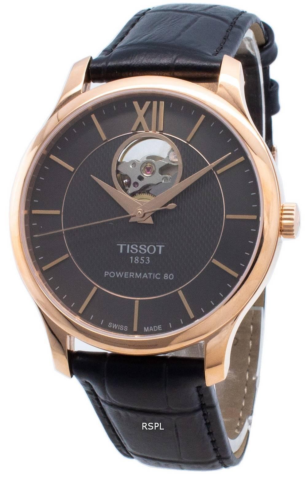 Tissot T-Classic Tradition T063.907.36.068.00 T0639073606800 avoimen sydämen automaattinen miesten kello