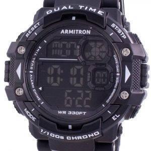 Armitron Sport 408309BLK Quartz Dual Time miesten kello