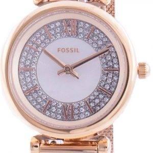 Fossil Carlie Mini ES4836 Reloj de mujer con detalles de diamantes de cuarzo