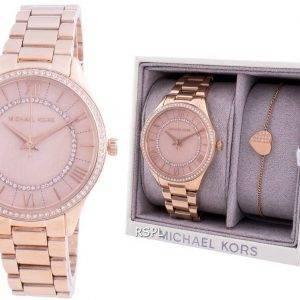 Michael Kors Lauryn MK4491 Detalles de diamantes de cuarzo con reloj de regalo para mujer