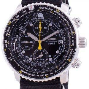 Seiko Pilot',s Flight SNA411P1-VAR-NATO4 Cronógrafo de cuarzo 200M Reloj para hombre