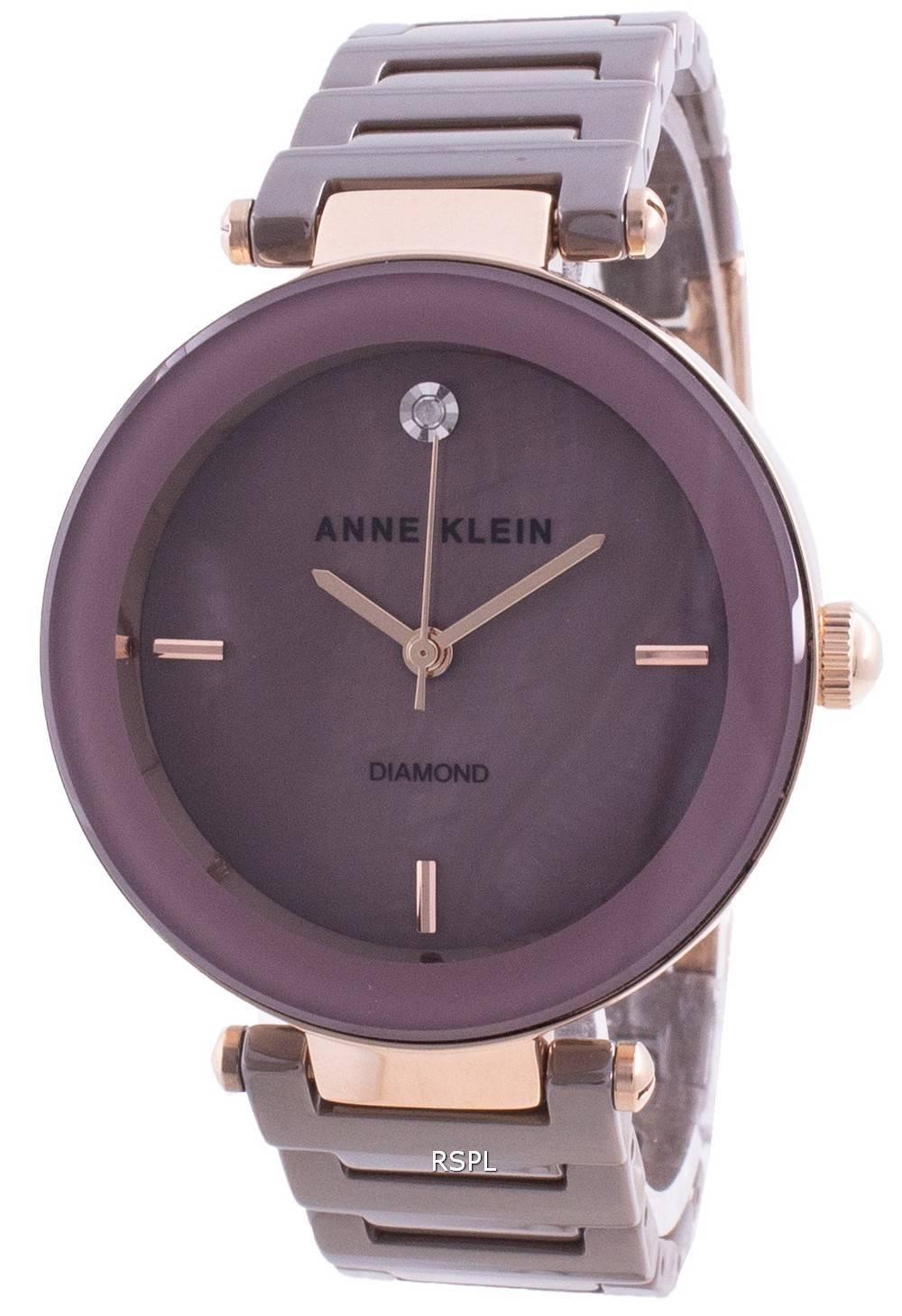 Anne Klein 1018RGMV Quartz Diamond Aksentti Naistenkello