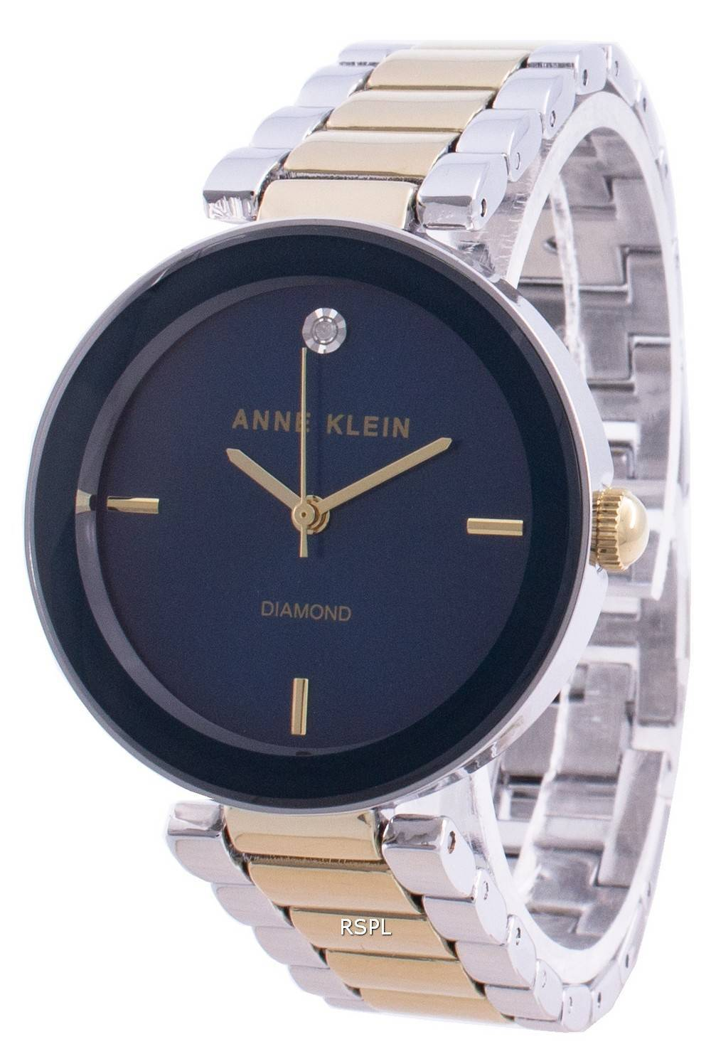 Anne Klein 1363NVTT Quartz Diamond Accents naistenkello