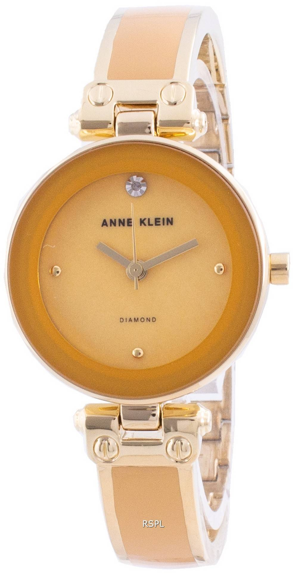 Anne Klein 1980MGGB Quartz Diamond Accents Naistenkello