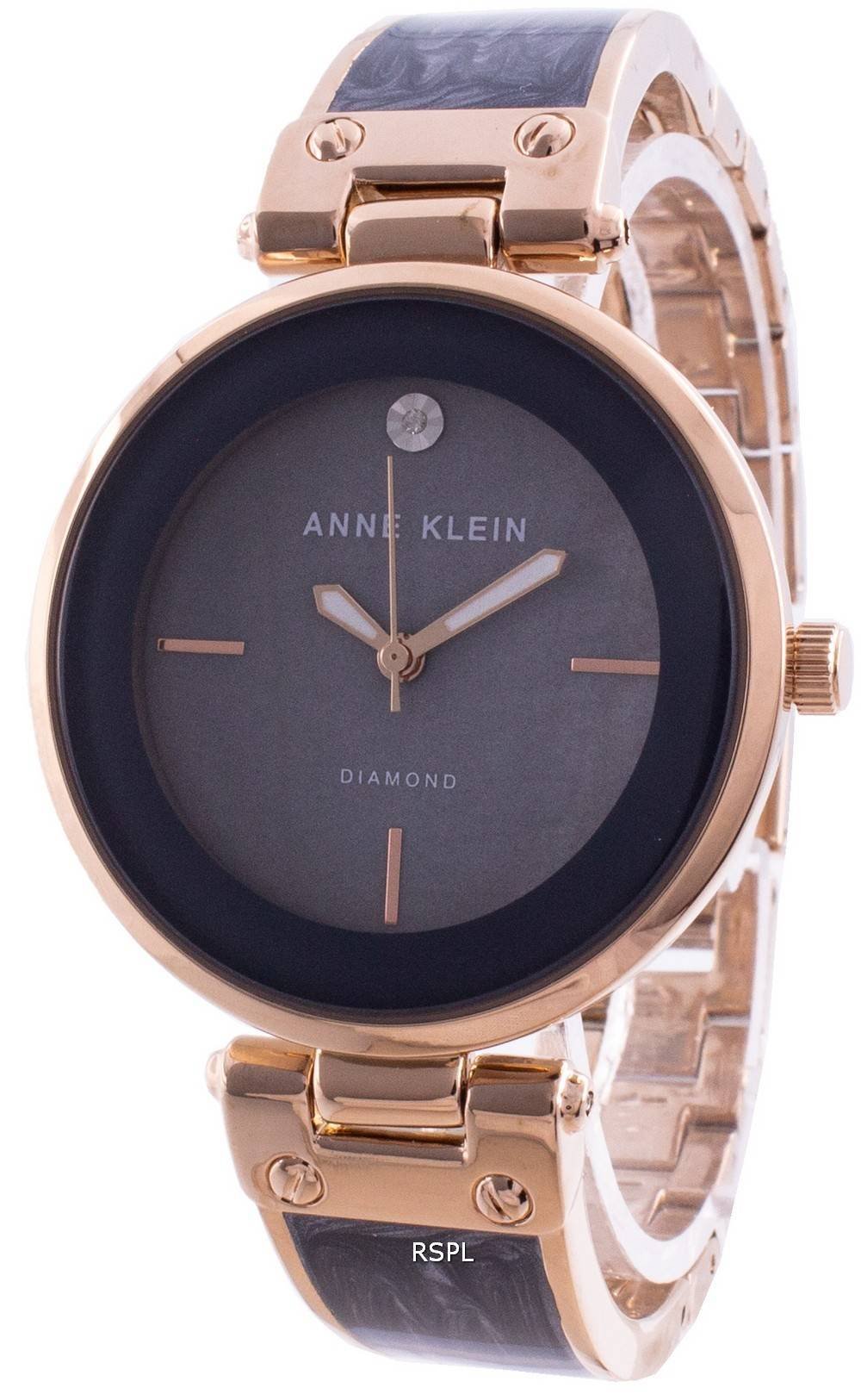 Anne Klein 2512GYRG Quartz Diamond Accents naistenkello