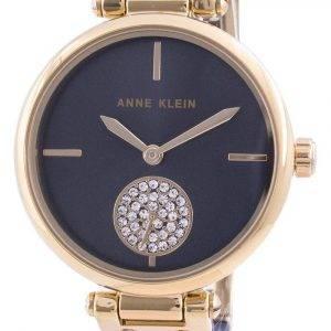 Anne Klein Swarovski Crystal painollinen 3001GPBL kvartsi naisten kello