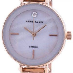 Anne Klein 3386LGRG Quartz Diamond Accents naistenkello