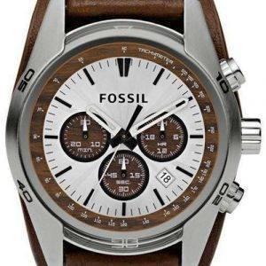 Fossil Cuff Chronograph Tan Leather CH2565 miesten kello