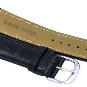 Black Ratio Brand Leather Strap 22mm SKX007, SKX009, SKX011, SNZG07, SNZG015