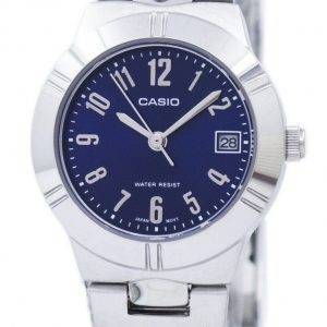 Casio analoginen kvartsi sininen kellotaulu LTP-1241D-2A2DF LTP-1241D-2A2 naisten kello