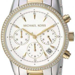 Michael Kors Ritz Chronograph kvartsi Diamond aksentti MK6474 naisten Watch