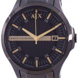 Armani Exchange Hampton Black Dial Quartz AX2413 Mens Watch