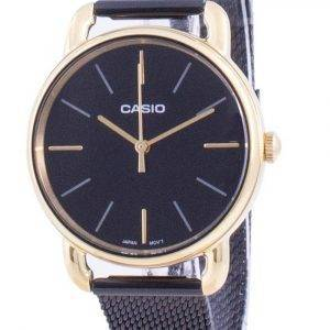 Casio musta soittaa kvartsi LTP-E412MGB-1A LTPE412MGB-1A naisten kello
